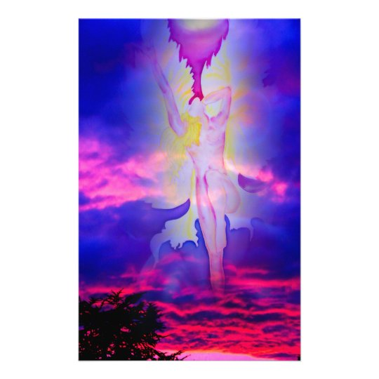 Engel Himmelfahrt Licht und Energie Briefpapier