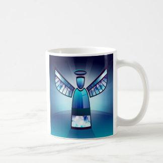 Engel im blauen Buntglas Kaffeetasse
