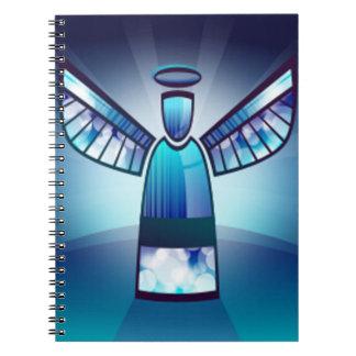 Engel im blauen Buntglas Notizbücher