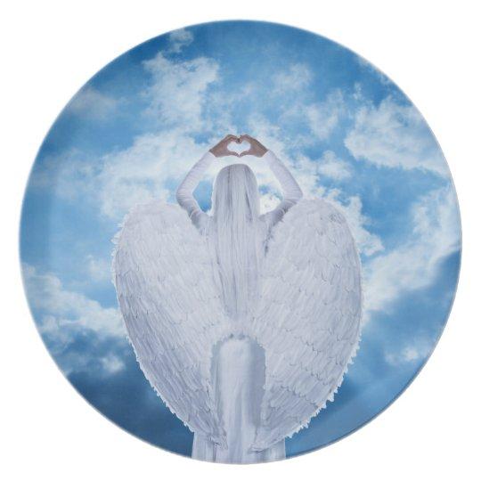 Engel in den Wolken Teller