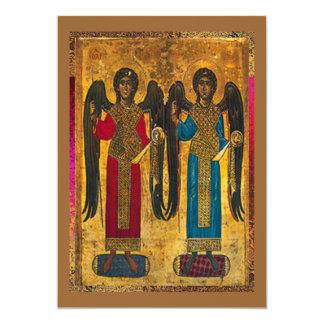 Engel Michael und Gabriel 12,7 X 17,8 Cm Einladungskarte