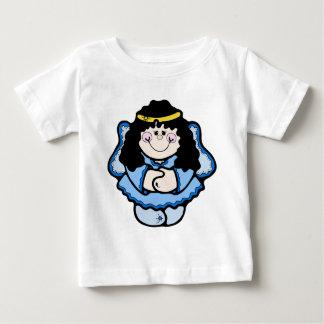 Engel mit dem schwarzen Haar Baby T-shirt