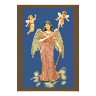 Engel mit goldenem Anker Personalisierte Ankündigungskarte