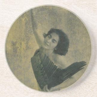 Engel mit Harfe Sandstein Untersetzer