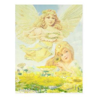 Engel mit Kranz Postkarte