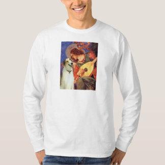 Engel mit Mandoline - Borzoi T-Shirt