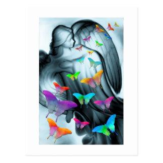 Engel mit Schmetterlingen Postkarte