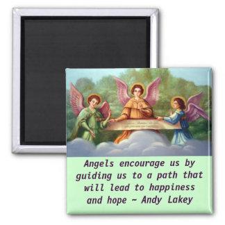 Engel regen Magneten an Quadratischer Magnet