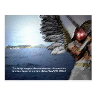 Engel schützen Aunu'u Postkarte