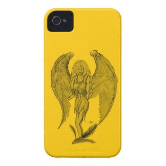 Engel - Schwarz- und Gelbentwurf iPhone 4 Hüllen