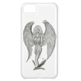 Engel - Schwarzweiss-Entwurf iPhone 5C Hülle