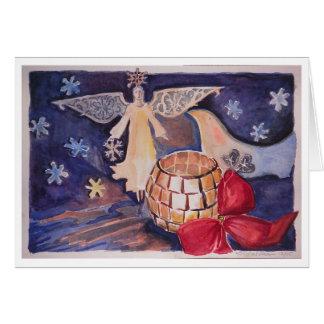 Engel/Tauben-Weihnachtskarte Karte