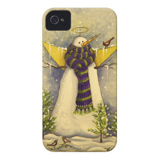 Engel u. Vögel des Schnee-4881 iPhone 4 Hüllen