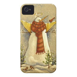 Engel u. Vögel des Schnee-4907 iPhone 4 Hüllen