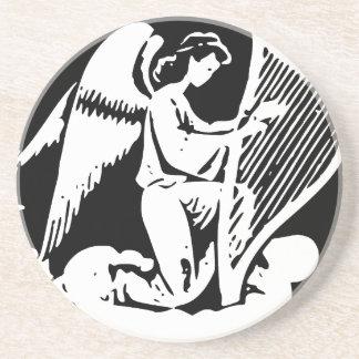 Engel und Harfe Getränkeuntersetzer