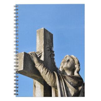 Engel und Kreuz Spiral Notizblock