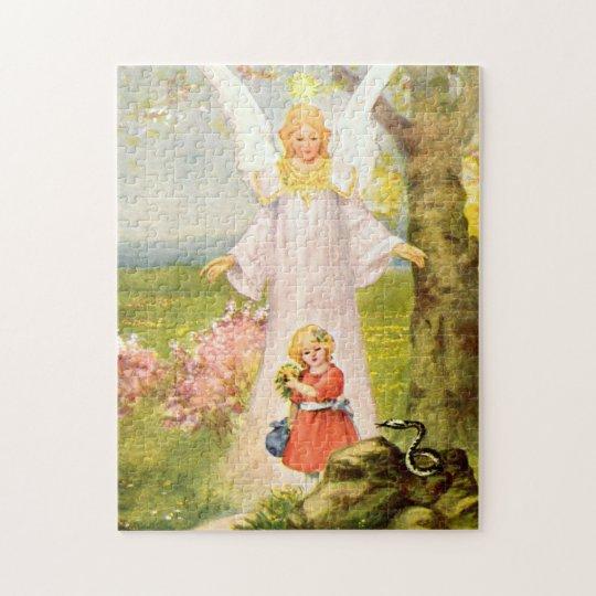 Engel und Mädchen und Schlange Puzzle