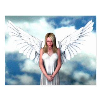 Engel unter den Wolken Postkarte