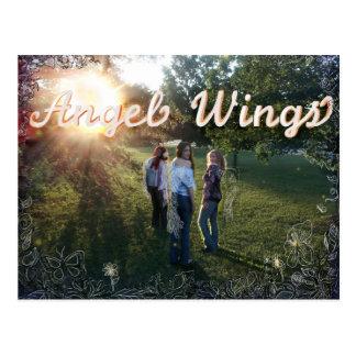 Engel Wings fördernde Postkarte