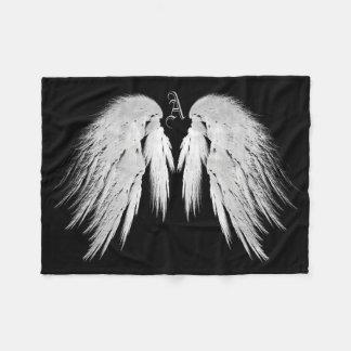 ENGEL WINGS Monogramm-Schwarzes Fleecedecke