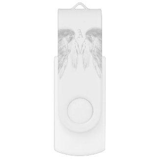 ENGEL WINGS Monogramm-Weiß USB Stick