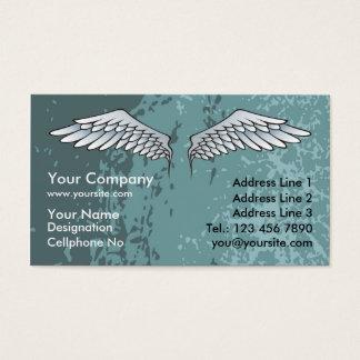Engel Wings schlammiges Blau Visitenkarte