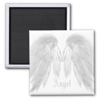 ENGEL WINGS weißen individuellen Namen Quadratischer Magnet