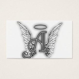 Engels-Alphabet ein Anfangsletzteres Wings Halo Visitenkarte