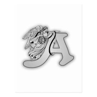 Engels-Alphabet ein Anfangsmonogramm Postkarte