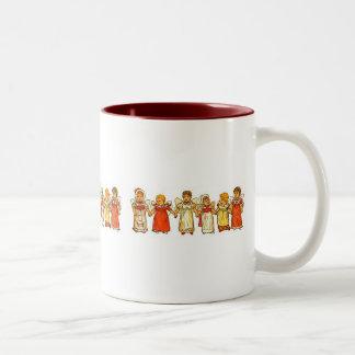 Engels-Baby-Schale Zweifarbige Tasse