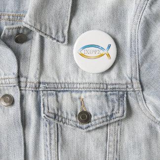 Engels-christliches Fisch-Symbol Runder Button 5,1 Cm
