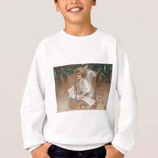 Engels-Engel-immergrüne Ast-Kerze Sweatshirt