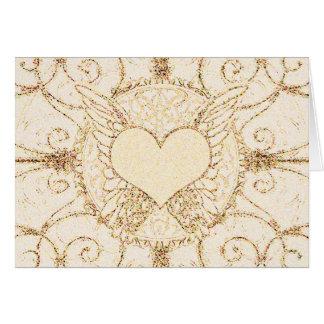Engels-Flügel und Herz Grußkarte