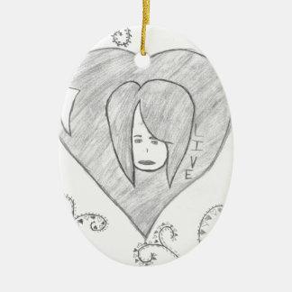 Engels-FriedensLiebe-Livezeichnen Keramik Ornament