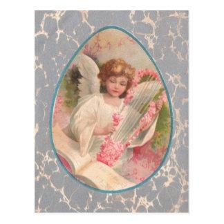Engels-Harfen-Musik-Osterei-Kirschbaum Postkarte
