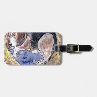 Engels-Hund Gepäckanhänger
