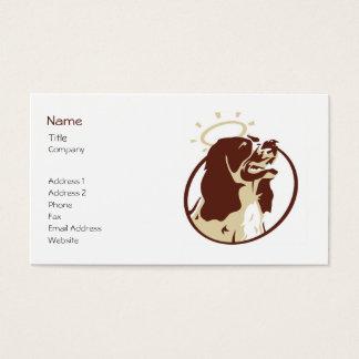 Engels-HundeVisitenkarte-Schablone Visitenkarte