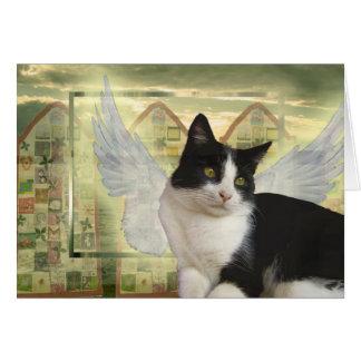 Engels-Katzen-Karte | mit tiefstem Beileid Grußkarte