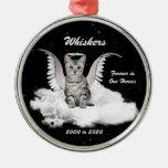 Engels-Katzen-personalisierte Erinnerungsweihnacht Weihnachtsbaum Ornamente
