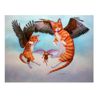 Engels-Katzen-und Mäusespiel Postkarte