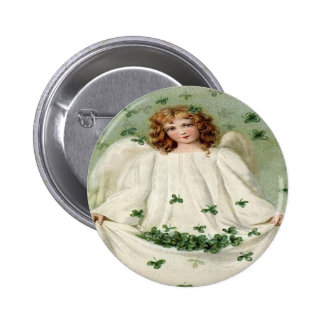 Engels-Klee-St Patrick TagesButton-Knopf Runder Button 5,1 Cm