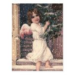 """""""Engels-Lieferungs-"""" Vintage Weihnachtspostkarte Postkarten"""
