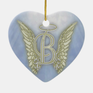 Engels-Monogramm des Buchstabe-B Keramik Ornament