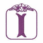 Engels-Monogramm gesticktes Shirt des Buchstabe-I Kapuzenpulli