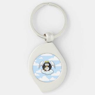 Engels-Pinguin auf einer Wolke mit Schlüsselanhänger