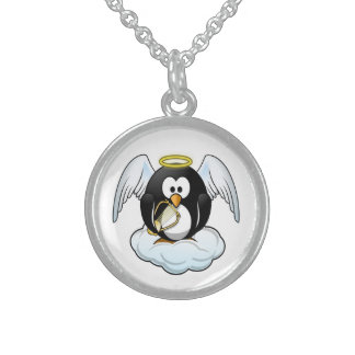 ENGELS-PINGUIN STERLING SILBERKETTE