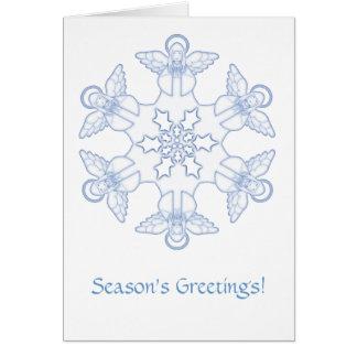 Engels-Schneeflocke Grußkarte