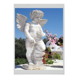 Engels-Statue in Grauem und in weißem Individuelle Ankündigskarten