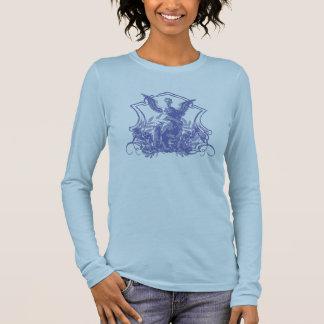Engels-Statue Langarm T-Shirt