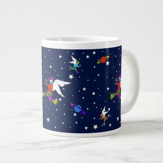 Engels-Typ-Starry Nacht (Mitternacht) Jumbo-Tasse